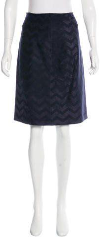 Alaia Chevron Velour Skirt w/ Tags