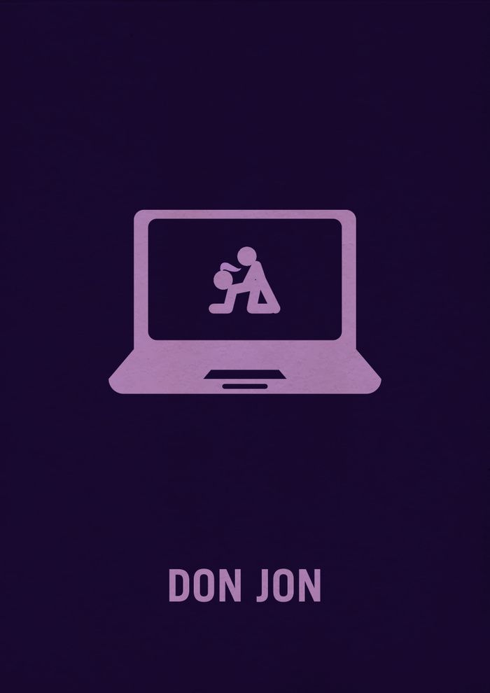 Don Jon (2013) ~ Minimal Movie Poster by Vikrant Banerjee #amusementphile