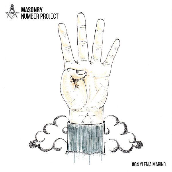 "FOUR by Ylenia Marino ""Masonry Number Project"" project by Massoneria Creativa, on Behance"