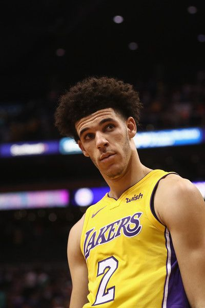 Lonzo Ball Photos - Lonzo Ball #2 of the Los Angeles Lakers reacts on the court following the NBA game against the Phoenix Suns at Talking Stick Resort Arena on October 20, 2017 in Phoenix, Arizona. The Lakers defeated the Suns 132-130. NOTE TO USER: User expressly acknowledges and agrees that, by downloading and or using this photograph, User is consenting to the terms and conditions of the Getty Images License Agreement. - Los Angeles Lakers v Phoenix Suns