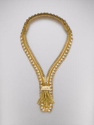 Почтовые ожерелье / браслет от Van Cleef & Arpels из желтого золота и алмазов, Париж, 1952 #Neckace #Bracelet #Diamond по Алехандра