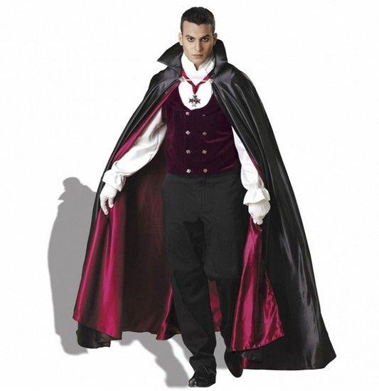 Готический вампир театральный делюкс взрослые мужские костюм, Хэллоуин дракула вампир костюмы для мужчины