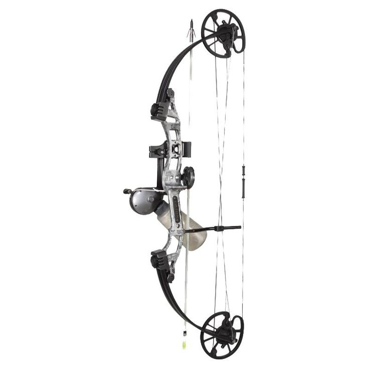 Cajun Sucker Punch Bowfishing Bow Package, White