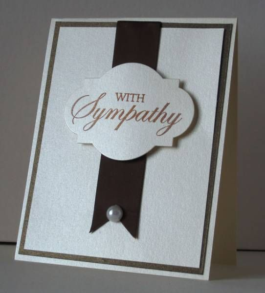 Clean & Simple Sympathy Card by SanFransister - Cards and Paper Crafts at Splitcoaststampers