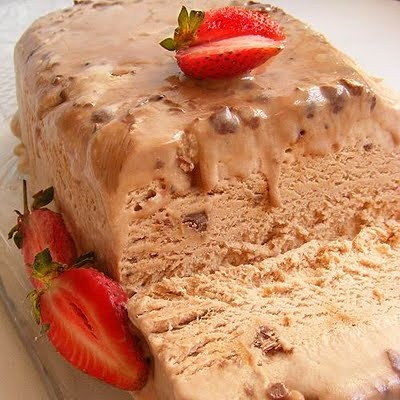 Scrumptious South Africa: Bar-One and Coffee Ice Cream Bombe, with built-in sauce topping