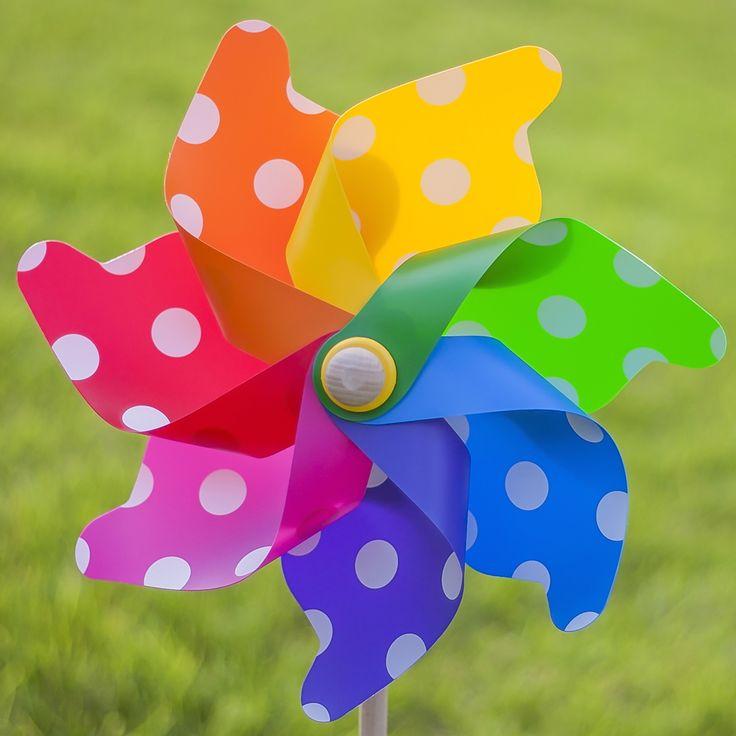 Grande Spot Windmill/Pinwheel uv stabilised for the garden! #whirlywindmills #sunshine #spots #rainbow