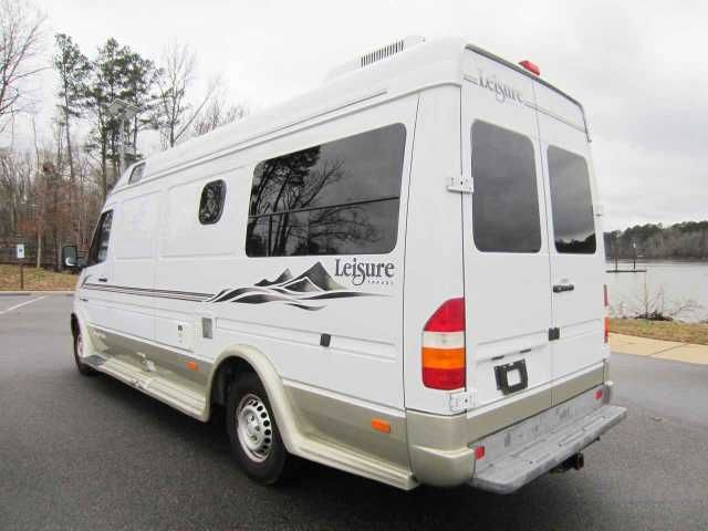2004 Used Leisure Travel Free Spirit 210 A Class B in North Carolina NC.Recreational Vehicle, rv, Very nice 2004 Leisure Travel Free Spirit 210A built on a 2003 Mercedes Sprinter chassis with only 25k miles! The mileage is accurate, verifiable, and guaranteed! Gorgeous Class B RV that gets over 20mpg with the highly desirable Mercedes Benz 2.7 liter inline 5 cylinder Diesel engine. The motor home is in very good condition and has been well maintained and cared for. The engine has plenty of…