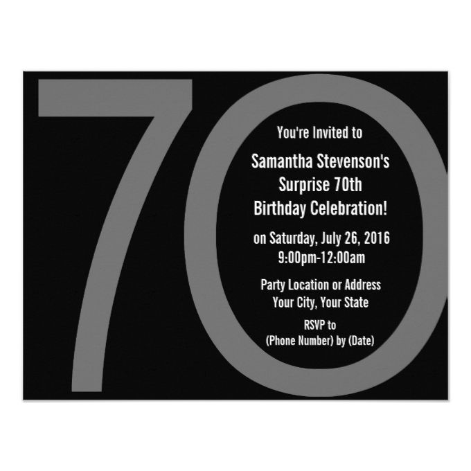 1329 best 70th Birthday Invitations images on Pinterest Invitation - best of invitation birthday party text