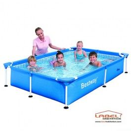 Piscine tubulaire forme rectangulaire bestway dimensions 220 x 150 x 43 - Piscine tubulaire rectangulaire bestway ...
