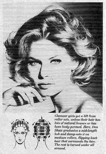 Glamour girls get a lift from roller sets ... Totally remember all the diagrams for different hair styles.