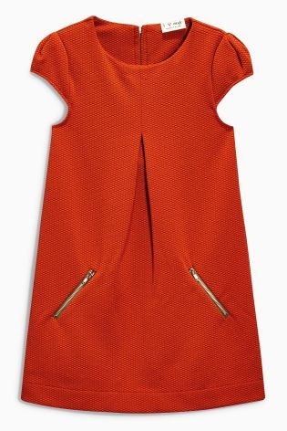Buy Rust Ponte Textured Dress (3-16yrs) from the Next UK online shop