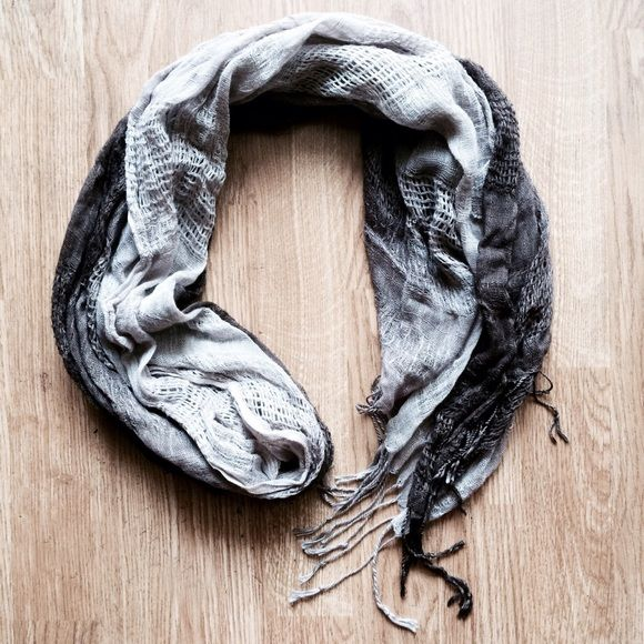 FC brown ombré scarf Beautiful lightweight brown scarf that fades from dark brown to light brown/gray. Goes with anything and super soft! Francesca's Collections Accessories Scarves & Wraps