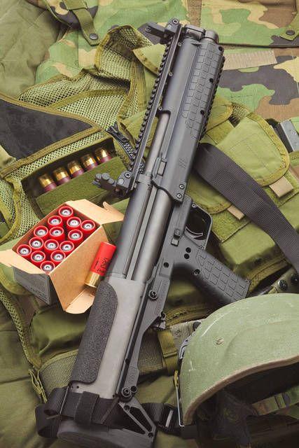 Kel-Tec KSG bullpup Shotgun. 14+1 round capacity. The ultimate home defense shotgun.
