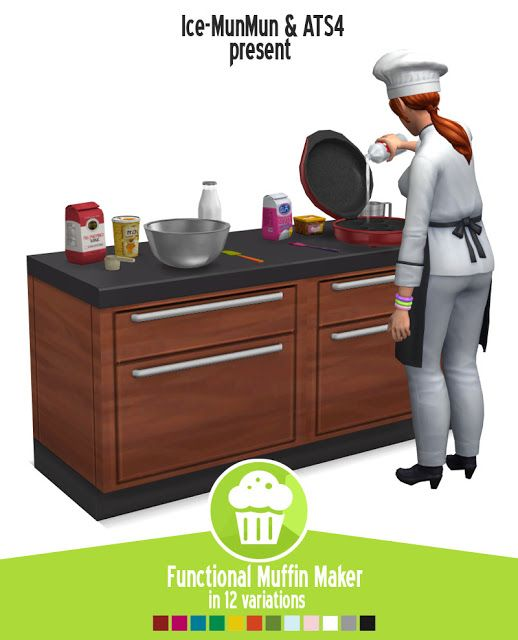 Sims 4 CC's - The Best: Muffin maker by Around The Sims 4