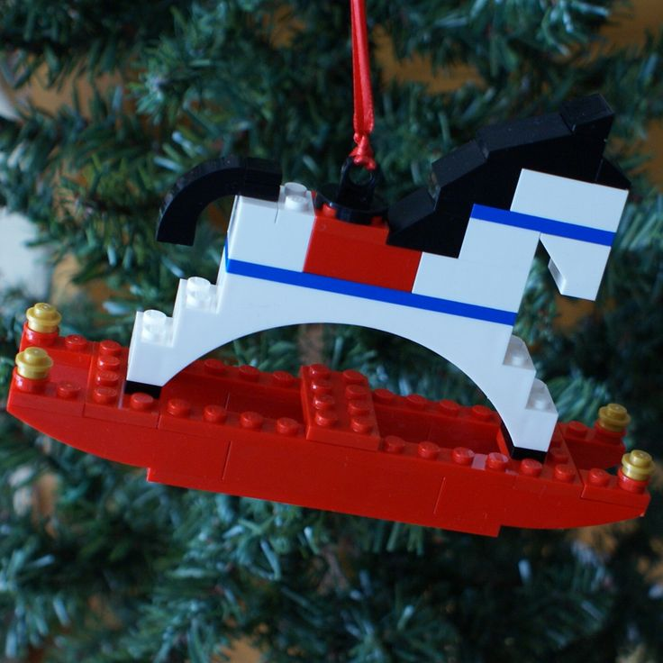 LEGO Rocking Horse Christmas Ornament by ornaments4charity on Etsy, $15.00