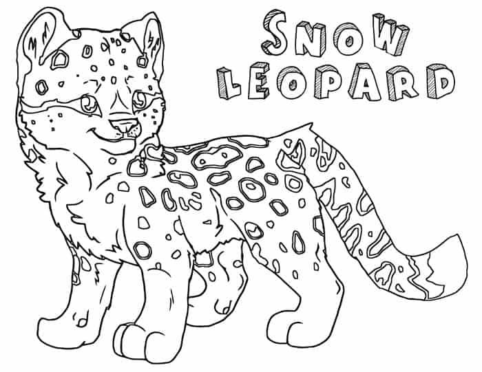 Snow Leopard Coloring Pages In 2020 Coloring Pages Animal Coloring Pages Cat Coloring Page