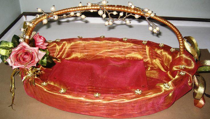 Indian wedding shagun basket- view -1-created by Anju