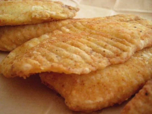 Deep fried tilapia. Make GF by using all purpose GF flour and cornstarch instead of regular flour.