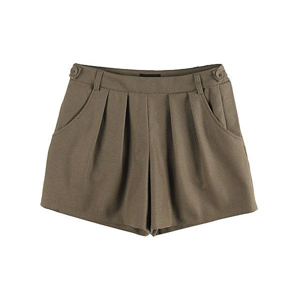 A.P.C. Pleated Shorts (2.035 ARS) ❤ liked on Polyvore featuring shorts, bottoms, skirts, pants, beige shorts, flared shorts, flare shorts, herringbone shorts and pleated shorts