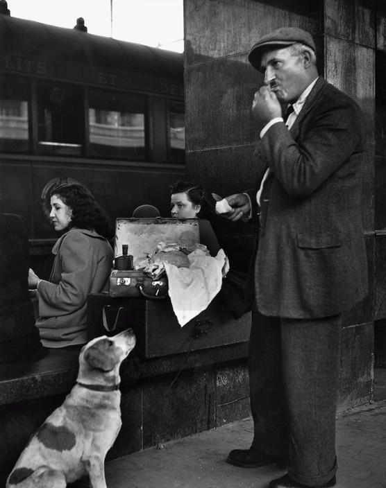 Herbert List - Termini Station, Rome, 1950.