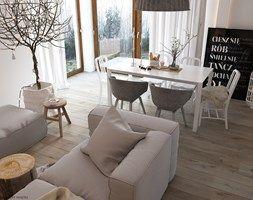 """Aranżacje wnętrz - Salon: W klimacie """"new nordic"""" - Duży salon z jadalnią, styl skandynawski - ELEMENTY. Przeglądaj, dodawaj i zapisuj najlepsze zdjęcia, pomysły i inspiracje designerskie. W bazie mamy już prawie milion fotografii!"""