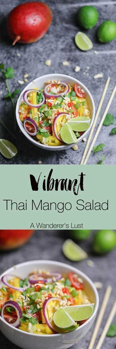 This vibrant Thai Mango Salad will make your taste buds dance boogie woogie