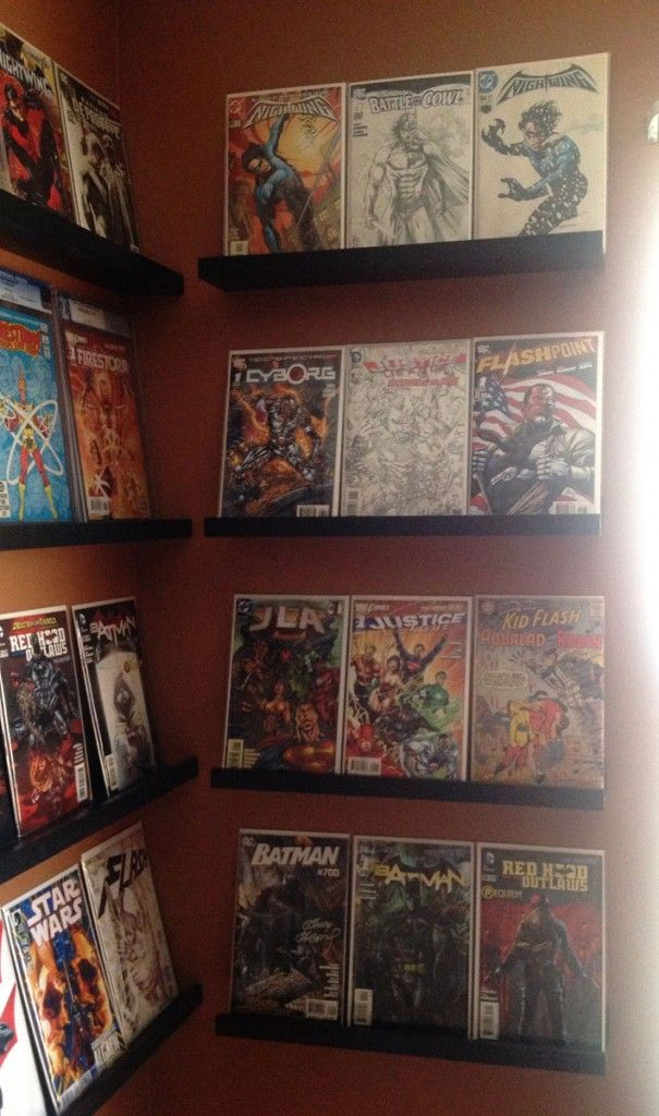 66 best comic book display images on pinterest book for Comic book box shelves