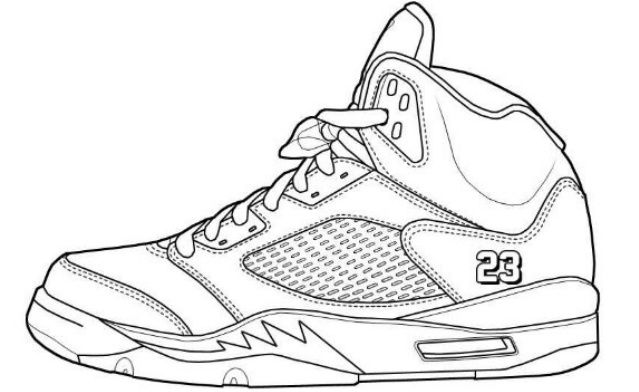 Coloring Pages Shoes Jordans | Free Coloring Pages ...