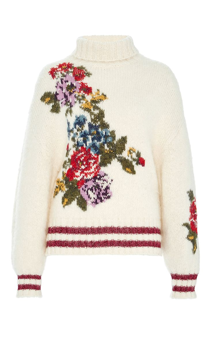 Flower Sweater by LEUR LOGETTE for Preorder on Moda Operandi