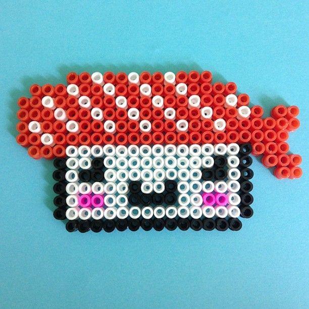 Salmon Sushi pyssla beads by  pysslaparadise