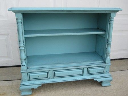 Vintage t.v. cabinet turned into cute bookcase by della