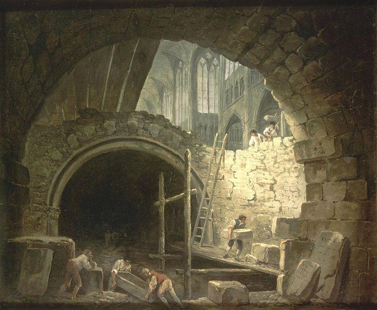 La violation des caveaux des rois dans la basilique Saint-Denis, en Octobre 1793.