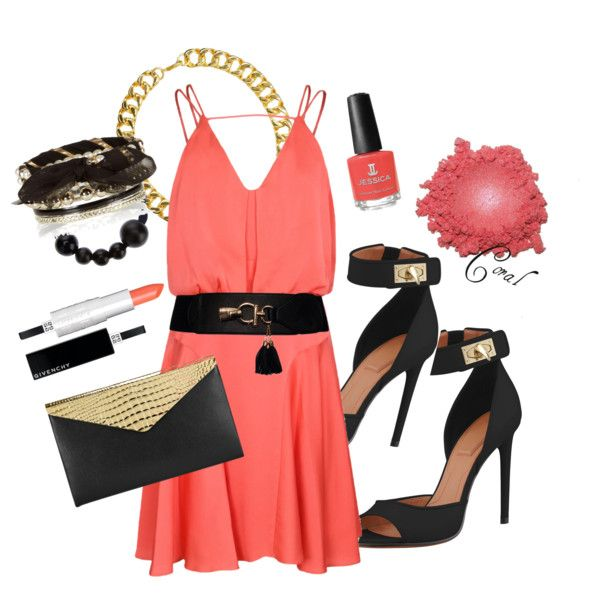 """CORAL LOVE"" by luzaanbth on Polyvore"