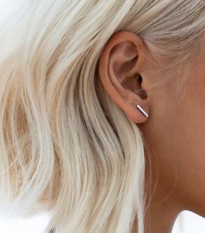 Stick Stud Earrings