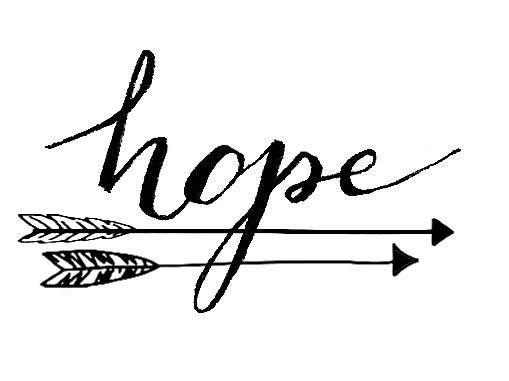 Hope tattoo with arrows signifying life pulling you back, but the importance of…
