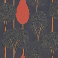 Gold / Purple / Orange - 60119 - Silhouette - Harlequin Boutique Wallpaper - Decor Supplies