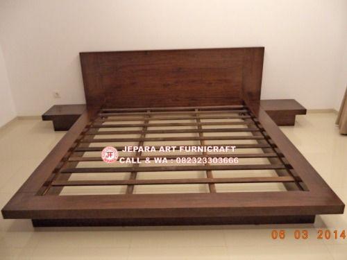 Model Tempat Tidur Minimalis Jati Jepang Modern 1 640x480