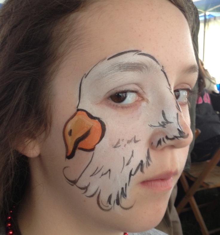 Eagle eye face paint by Katie Tucker, TN. www.facebook.com/artbykatietucker