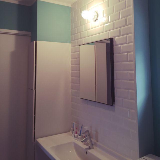 サブウェイタイル/Bathroom…などのインテリア実例 - 2015-08-15 16:21:37 | RoomClip(ルームクリップ)