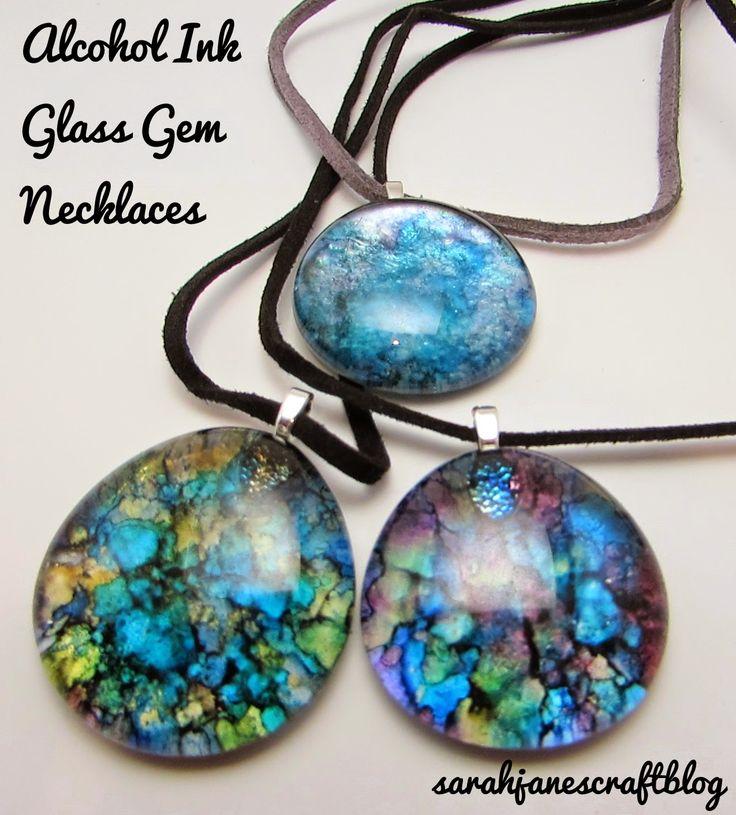Sarah Jane's Craft Blog: Crafting Revisit: Alcohol Ink Glass Gems