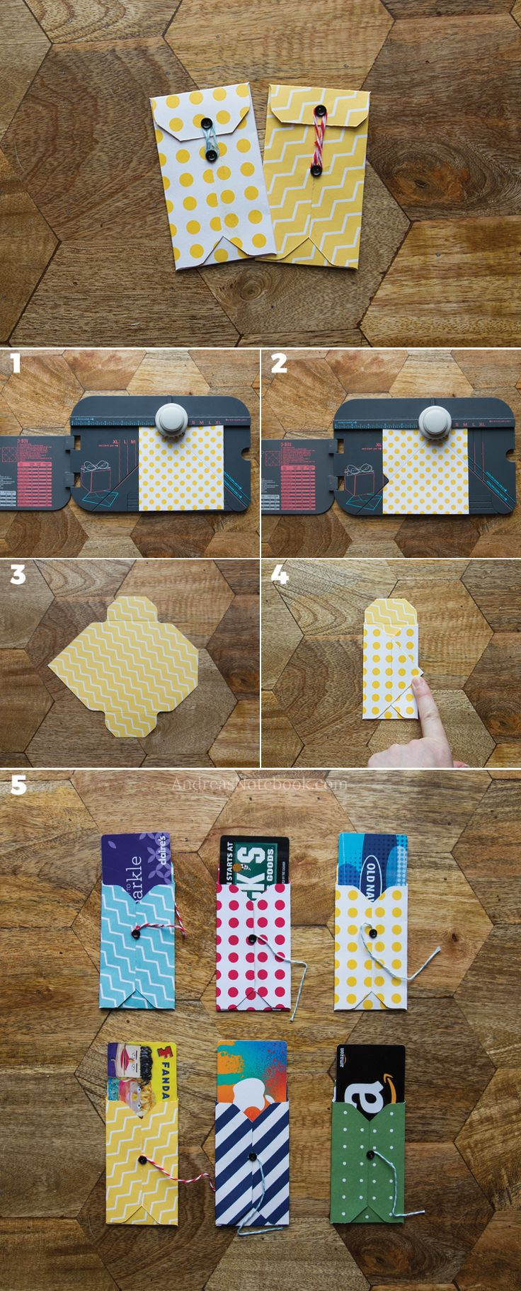 DIY gift card holder tutorials Diy