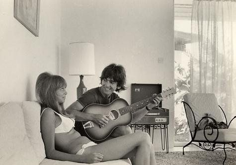Pattie Boyd... and this photo of George reminds me of my husband
