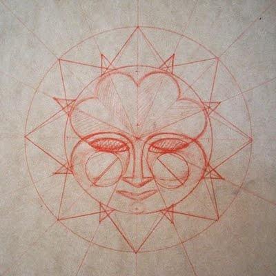 Aztec sun student art projects pinterest aztec sun for Aztec mural tattoos