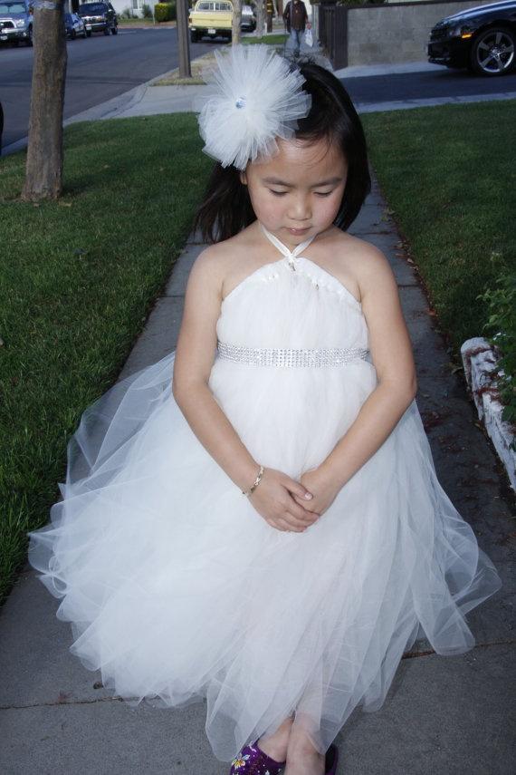 Little Bride Tutu Dress Wedding Birthday Flower by giselleboutique, $60.00