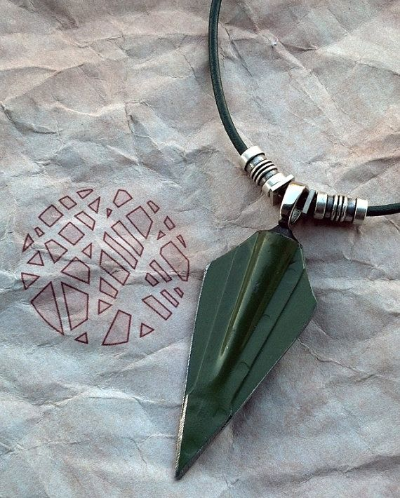 Green Arrow Necklace by curiousgood on Etsy