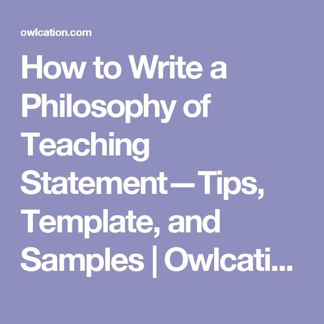 How to Write a Philosophy of Teaching Statement—Tips, Template, and Samples | Owlcation