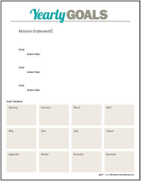 Goal Planning Worksheet   .Organization.   Pinterest