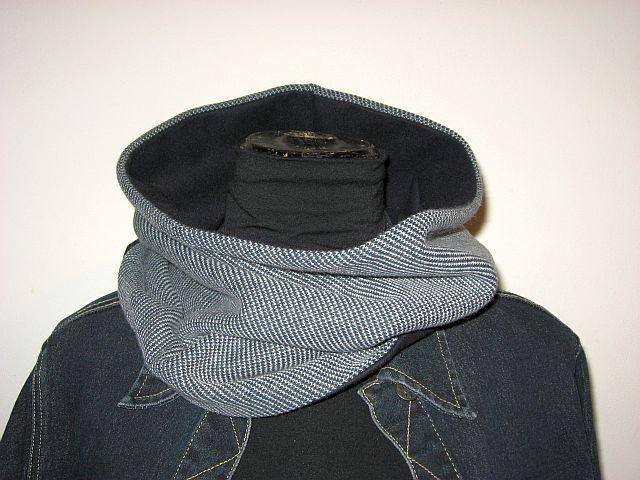sciarpa uomo/donna unisex grigio blu : Sciarpe di janecolori