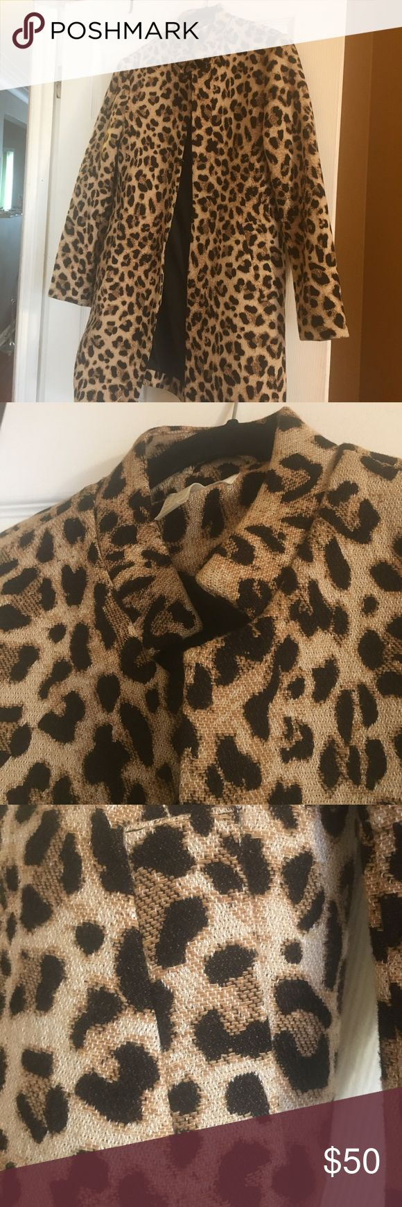 H&M Cheetah Print Coat H&M Cheetah Print Coat Worn once 10 H&M Jackets & Coats