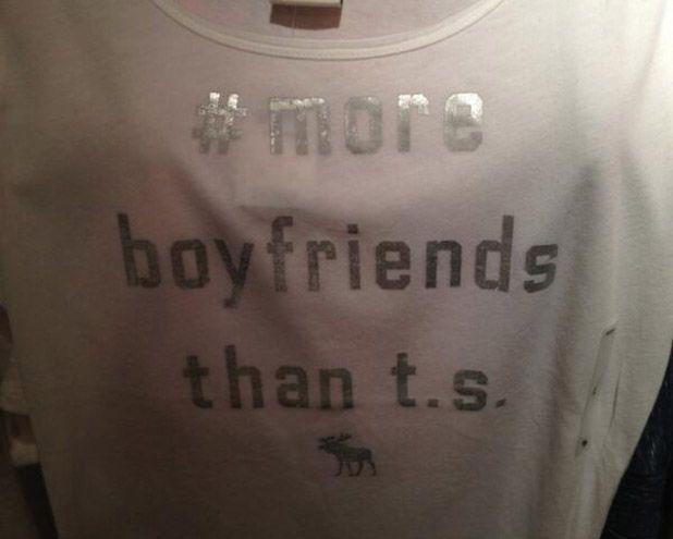 Abercrombie & Fitch retiran las #camisetas que se burlaban de Taylor Swift